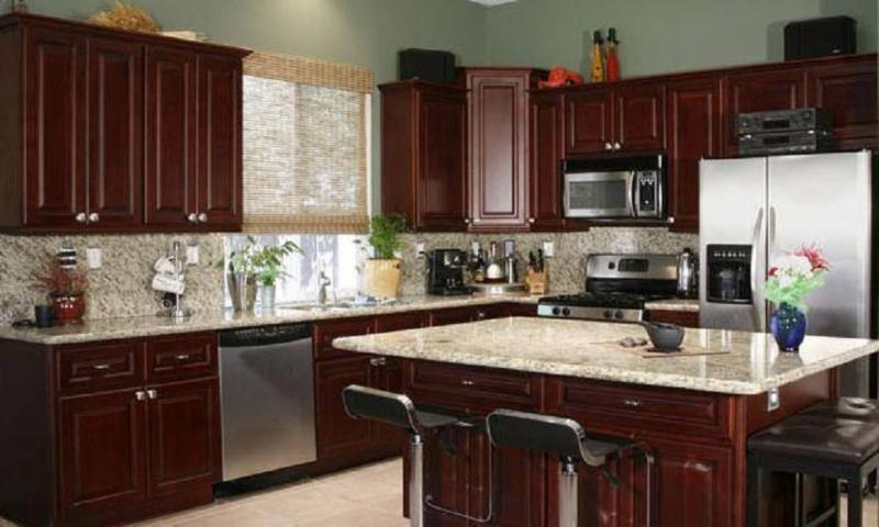 Kitchen Paint Colors With Cherry Wood Cabinets - Sarkem.net