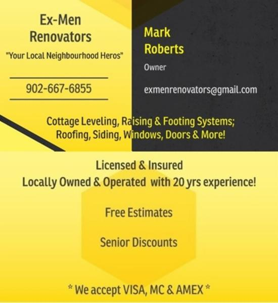 Ex-Men Reno Business Card
