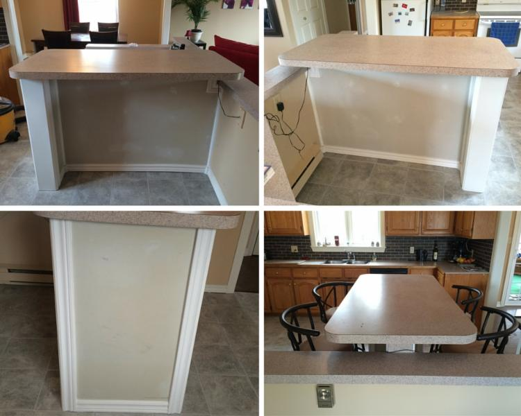 kitchen table/island reno - after