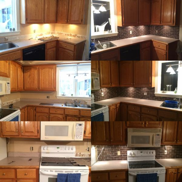 kitchen back-splash reno - before & after