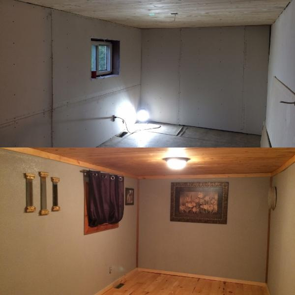 bedroom reno - before & after