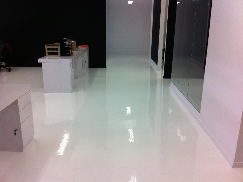 White urethane floor