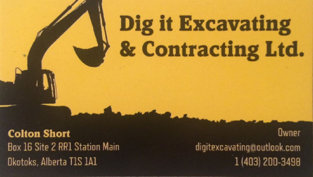 Dig it Excavating & Contracting Ltd - Excavation Contractors - 403-200-3498