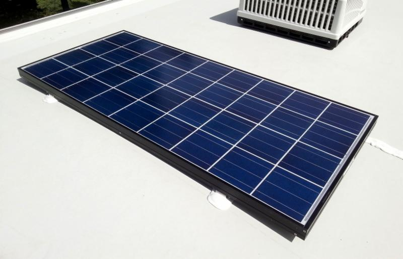 145 Watt Kyocera Solar Panel on Customer's Travel Trailer