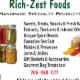Rich-Zest Foods - Gourmet Food Shops - 705-450-1177
