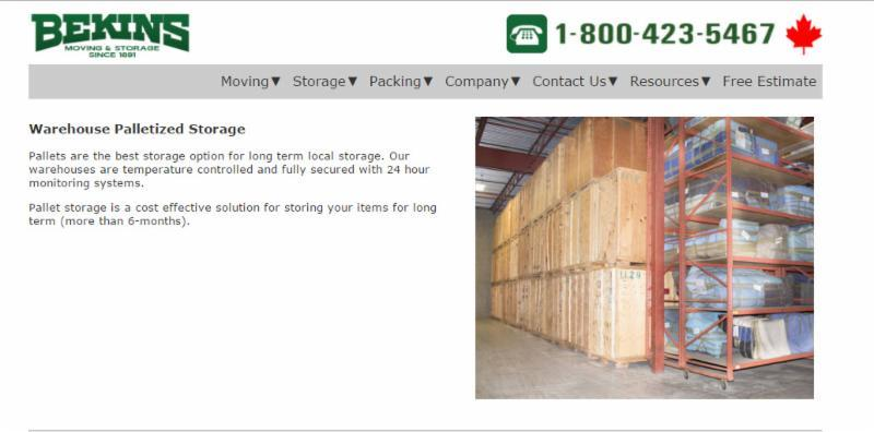 Warehouse Palletized Storage