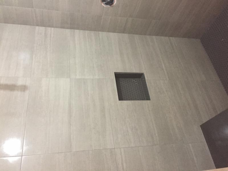 Bathroom renovation - tiling