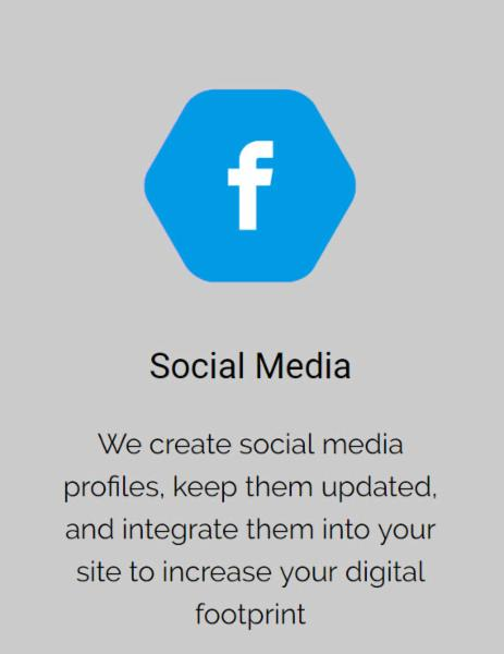 We create social media profiles, keep them updated, and integrate them into your site to increase your digital footprint          Accurate tracking of website traffic and up-to-date reports on performance